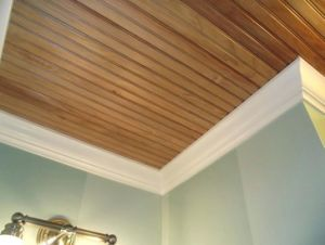 China 9mm Teak Solid Wood Plank Ceiling China Wood Ceiling