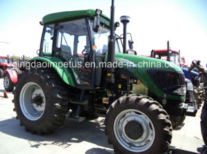 High Quality and Popular 100HP 4X4wd Wheel Farm Tractor with A/C Cabin pictures & photos
