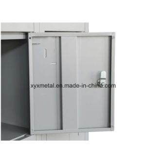 Staff Dormitory Steel Wardrobe 18 Door Assembled Clothes Cabinet pictures & photos