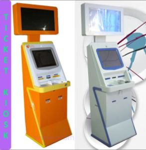 Custom Dual Monitors E-Payment Kiosk Ticketing Self Check-in Kiosk