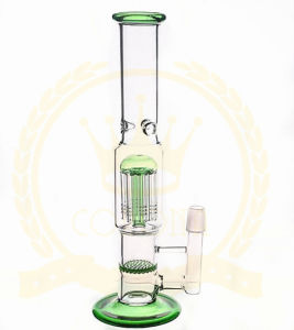 10inch Mini Tall Corona Recycler Glass Water Pipe pictures & photos