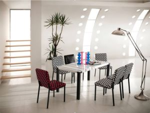 Fashion Home Dining Room Outdoor Furniture Marble Dining Table (WLF-DT089)