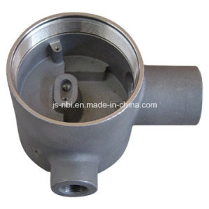 Steel Investment Casted Housing for Heating Machines with Threading and Shot Blasting pictures & photos