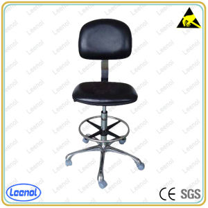 Ln-5261b Adjustable Antistatic ESD Work Chair with Leather Surface pictures & photos