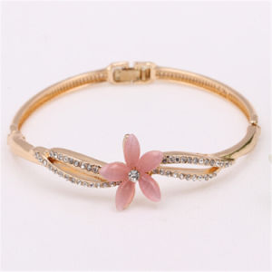 Fashion Flower Bangle Jewelry 18k Gold Plated Bangles