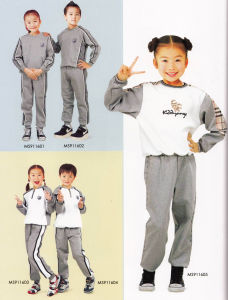 Comfortable and Fashion Primary School Sport Uniform for Boys and Girls -Sh08 pictures & photos