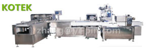 Full Servo Baking Factory Packaging Equipment Automated Wafer Flow Wrap Line