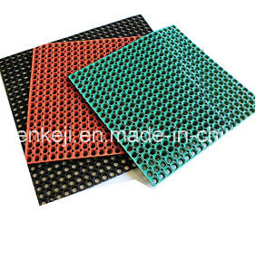 Interlocking Outdoor Anti-Slip Colorful Rubber Floor Mat pictures & photos