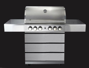 Barbecue Gas Grill with Tool Chest