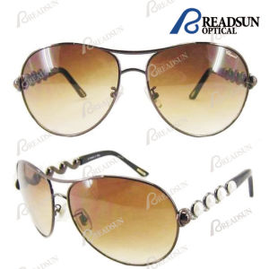 High Quality Stainless Steel Sunglasses with Polarized Lens and Metal Decoration (SM606026) Eyewear Sunglasses China pictures & photos
