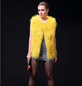 New Arrival Winter Fashion Real Mongolia Sheep Wool Fur Vest