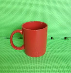 11 Oz Red Ceramic Mug C Handle Coffee Mug (TS-YMB-7102) pictures & photos
