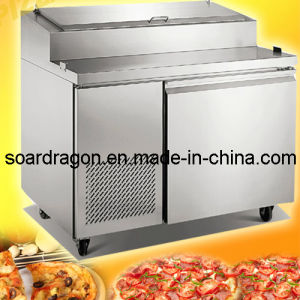 Pizza Preparation Tables with 6 Pans pictures & photos