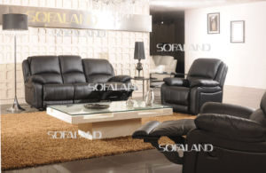 Black Color Well Sell and on Promotion Leather Recliner Sofa
