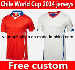 5a24daf8915 China Chile Soccer Jersey Short Sleeve