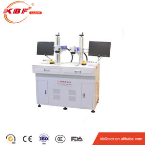 Double Head/ Workbench High-Effcient Table Metal Fiber Laser Engraving Machine pictures & photos