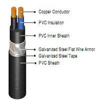 PVC Jacket PVC Insulated Armor Power Cable (Cu / PVC / SFWA / PVC) pictures & photos