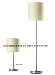 Modern Metal Table and Floor Lamp with Fabric Shade (WH-564) pictures & photos