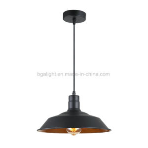 Matt Black Nordic Style Metal Pendant Lamp for Dining Room