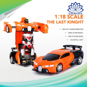 China Deformation Car Toys Automatic Transform Robot Plastic Model