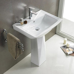 China New Design Bathroom Free Standing Pedestal Wash