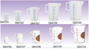 Plastic Food Grade PP Measuring Cup (SN4701) pictures & photos
