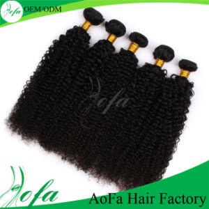 Kinky Curly Brazilian Human Virgin Hair Weaving pictures & photos