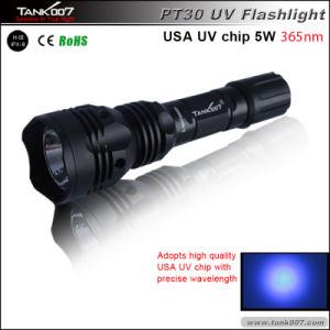 Mini 5W 365nm UV Pen Flashlight Portable Blacklight for Pet Urine Detector 18650