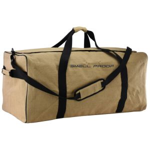 Smell Odor Proof Hemp Duffel Travel Bag with Carbon Lining