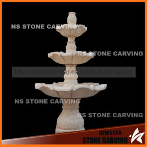 "Natural Beige Marble Water Fountain Core 78"" pictures & photos"