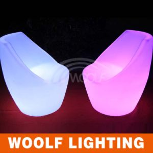 Hot Sale Plastic LED Bright Colored Chairs