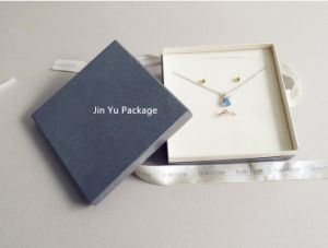 Sliver&Grey Color Paper Gift Jewelry Box with Silk Ribbon Printed Custom Logo pictures & photos