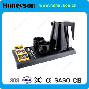 Honeyson New Hotel Plastic Electric Kettle Stainless Steel pictures & photos