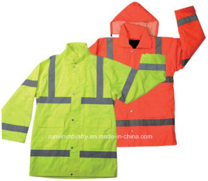High Visibility Reflective Raincoat Yg722 pictures & photos