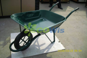 Wheelbarrow with Steel Handles and Flat Free Tire pictures & photos