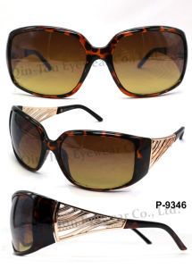 Fashion Plastic Sunglasses with 100% UV Protection (P-9346)