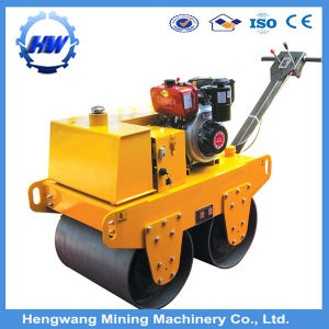 Hydraulic Walk Behind Double Drum Vibratory Road Roller pictures & photos