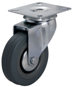 75mm Grey Rubber Caster Wheel
