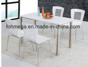 Restaurant High Glossy Table Chair Set (FOH-BC32A) pictures & photos