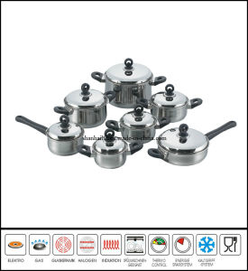 14PCS Stainless Steel Belly Shape Cookware Set pictures & photos
