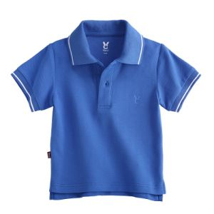 Wholesale Blank Blue Cotton Polo Shirt for Kids Boy pictures & photos