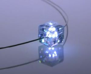 light up necklace Light up quartz necklace blue light necklace