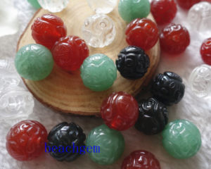 Jewelry Parts-Natural Gemstone Carved Beads