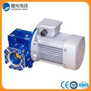 Aluminum Body Worm Gear Reducer with Output Flange pictures & photos