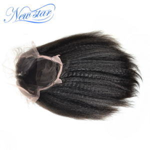 Full Lace Wig 130% Density Chinese Kinky Straight Human Hair pictures & photos
