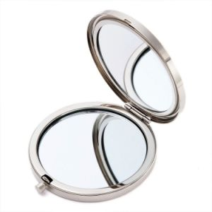 Wholesale Gift Beauty Silver Compact Mirror for Promotion Gift Cm-1014 pictures & photos