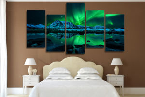 HD Printed Aurora Borealis Painting on Canvas Room Decoration Print Poster Picture Canvas Wall Art Mc-003 pictures & photos
