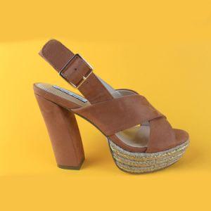 China Ladies High Heel Wedge Peep Toe