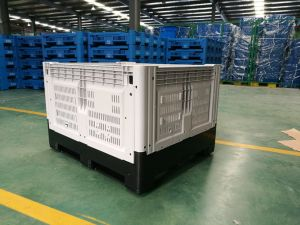 Virgin HDPE Material Collapsible Plastic Fruit Storge Plastic Pallet Boxes pictures & photos
