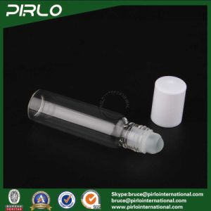 10ml 0.33oz Clear Glass Deodorant Roll on Bottle with Glass Ball and White Cap pictures & photos